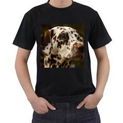 Dalmatian Liver Men s T-Shirt (Black)