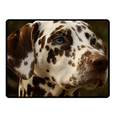 Dalmatian Liver Fleece Blanket (Small)