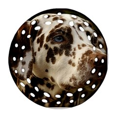 Dalmatian Liver Ornament (Round Filigree)