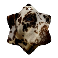 Dalmatian Liver Snowflake Ornament (Two Sides)