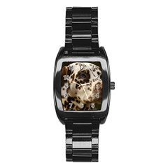 Dalmatian Liver Stainless Steel Barrel Watch