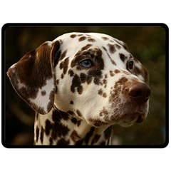 Dalmatian Liver Double Sided Fleece Blanket (Large)