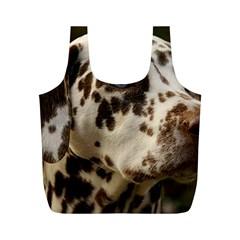 Dalmatian Liver Full Print Recycle Bags (M)