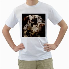 Dalmatian Liver Men s T-Shirt (White)