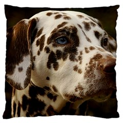 Dalmatian Liver Large Flano Cushion Case (Two Sides)