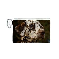 Dalmatian Liver Canvas Cosmetic Bag (S)