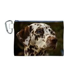 Dalmatian Liver Canvas Cosmetic Bag (M)