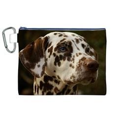 Dalmatian Liver Canvas Cosmetic Bag (XL)