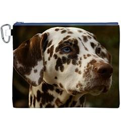 Dalmatian Liver Canvas Cosmetic Bag (XXXL)