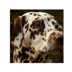 Dalmatian Liver Small Satin Scarf (Square)