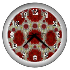 Paint On Water Falls,in Peace And Calm Wall Clocks (Silver)