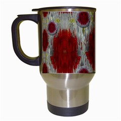 Paint On Water Falls,in Peace And Calm Travel Mugs (white)