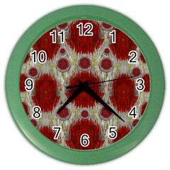 Paint On Water Falls,in Peace And Calm Color Wall Clocks