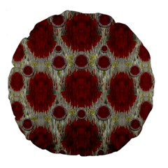 Paint On Water Falls,in Peace And Calm Large 18  Premium Flano Round Cushions