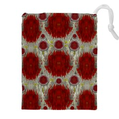 Paint On Water Falls,in Peace And Calm Drawstring Pouches (XXL)