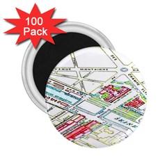 Paris Map 2.25  Magnets (100 pack)