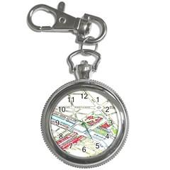Paris Map Key Chain Watches