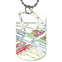 Paris Map Dog Tag (One Side)