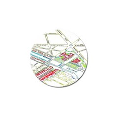 Paris Map Golf Ball Marker