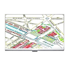Paris Map Business Card Holders