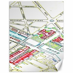 Paris Map Canvas 12  x 16