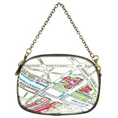 Paris Map Chain Purses (Two Sides)