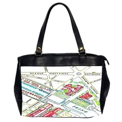 Paris Map Office Handbags (2 Sides)