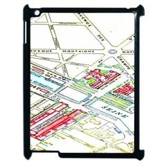 Paris Map Apple iPad 2 Case (Black)