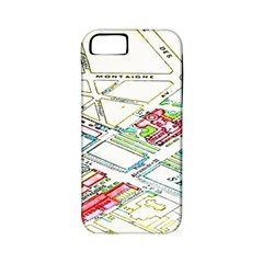 Paris Map Apple iPhone 5 Classic Hardshell Case (PC+Silicone)