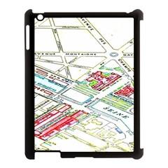 Paris Map Apple iPad 3/4 Case (Black)