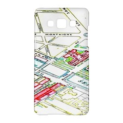 Paris Map Samsung Galaxy A5 Hardshell Case