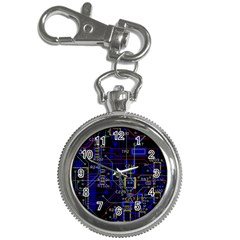 Technology Circuit Board Layout Key Chain Watches