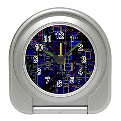 Technology Circuit Board Layout Travel Alarm Clocks
