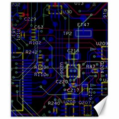 Technology Circuit Board Layout Canvas 20  x 24