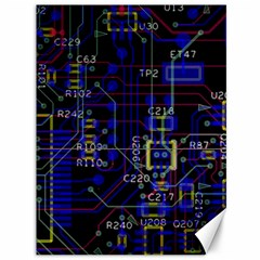 Technology Circuit Board Layout Canvas 36  x 48