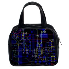 Technology Circuit Board Layout Classic Handbags (2 Sides)