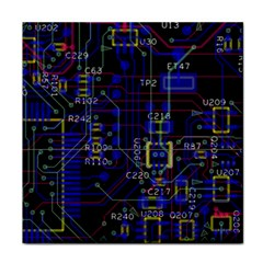 Technology Circuit Board Layout Face Towel