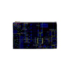 Technology Circuit Board Layout Cosmetic Bag (Small)