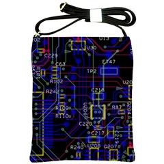 Technology Circuit Board Layout Shoulder Sling Bags