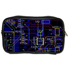 Technology Circuit Board Layout Toiletries Bags 2-Side