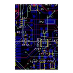 Technology Circuit Board Layout Shower Curtain 48  x 72  (Small)