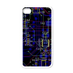 Technology Circuit Board Layout Apple iPhone 4 Case (White)
