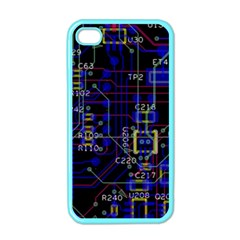 Technology Circuit Board Layout Apple iPhone 4 Case (Color)