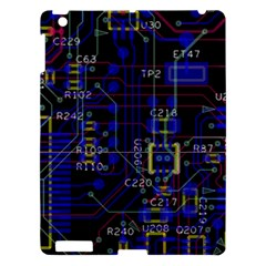 Technology Circuit Board Layout Apple iPad 3/4 Hardshell Case