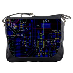 Technology Circuit Board Layout Messenger Bags