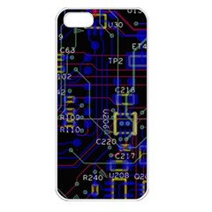 Technology Circuit Board Layout Apple iPhone 5 Seamless Case (White)