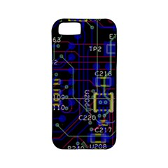 Technology Circuit Board Layout Apple iPhone 5 Classic Hardshell Case (PC+Silicone)