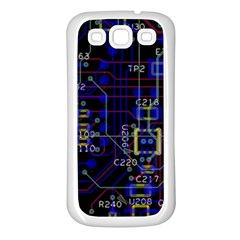 Technology Circuit Board Layout Samsung Galaxy S3 Back Case (White)
