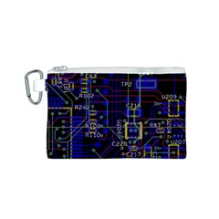 Technology Circuit Board Layout Canvas Cosmetic Bag (S)
