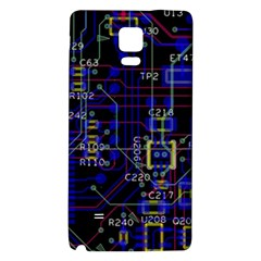 Technology Circuit Board Layout Galaxy Note 4 Back Case